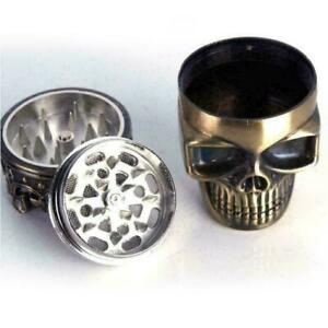 Tabak-Kraeuter-Gewuerzmuehle-King-Skeleton-Skull-Crusher-Messing-Punk-Kreativ-B0B3