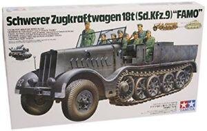 Maquette militaire allemande 18 tonnes demi - piste Famo 1/35, modèle Tamiya 35239 4950344992393