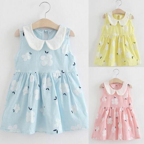 Toddler Girls Princess Dress Kids Baby Party Wedding Sleeveless Sundress Dresses