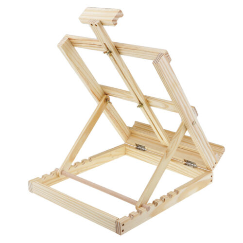 Artist Kids Wooden Tabletop Desk Easel for Painting Drawing Picture Display