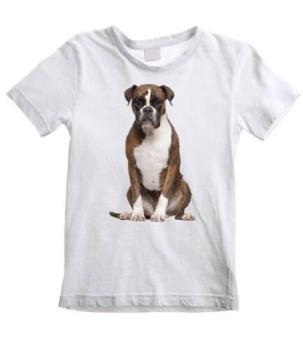 Perro Boxer Niños T-Shirt-Perros Mascota alemán Childrens-las edades de 3 a 12