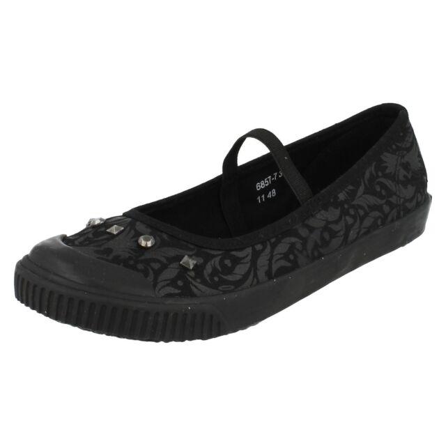 Girls Slip on Flats Casual School Shoe Ballerinas Canvas Lightweight Pumps