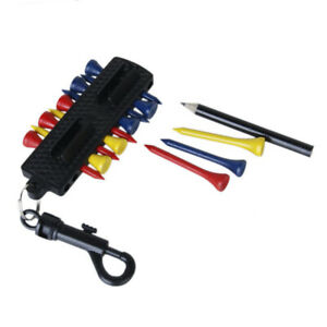 12x-Plastic-Golf-Tees-2-Ball-Markers-Golf-Tee-Holder-Markers-Divot-Tool-Keychain