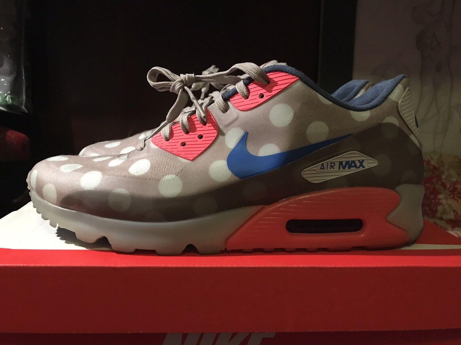 Nike Air Max 90 Ice City QS New York NYC POLKA DOT  Size 9.5 Khaki Tan Atmos