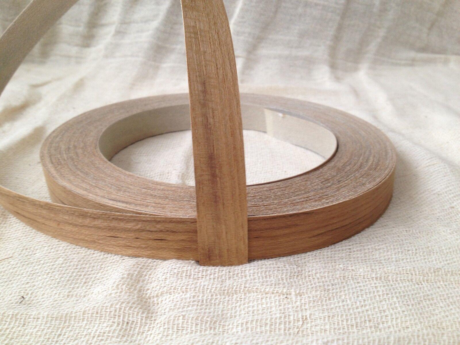 Teak Real Wood Veneer Pre Glued Iron on Edging Tape Banding 22mm