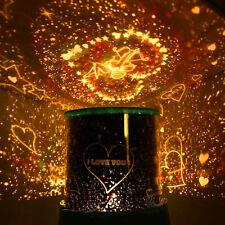 Weihnachten LED Nachtlicht Musik Sterne Cupid Herz Projektor Beleuchtung Lampe