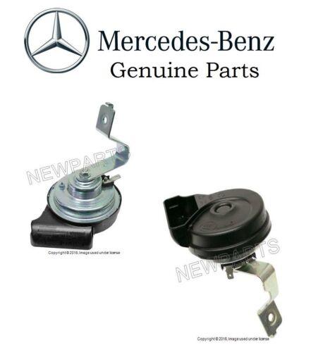 For Mercedes X204 W212 W218 C300 E550 Set of 2 Horns Low Tone+High Tone Genuine
