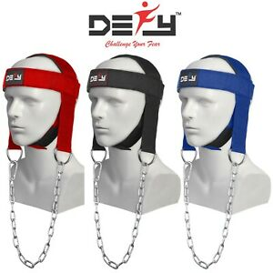 DEFY-NEW-NYLON-WEIGHT-LIFTING-HEAD-HARNESS-NECK-STRENGTH-GYM-FIT-EXERCISE-PADDED