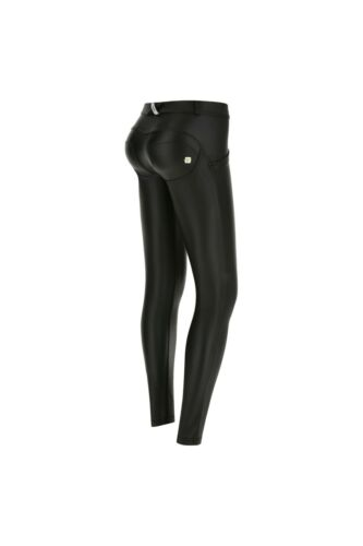 LOW WAIST SKINNY FIT FAUX LEATHER BLACK FREDDY WR.UP® SHAPING EFFECT PANT