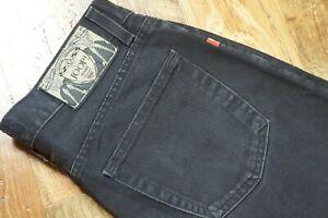 Mens Vintage JOOP! Black Straight Leg Zip Fly Jeans Black W33 L35