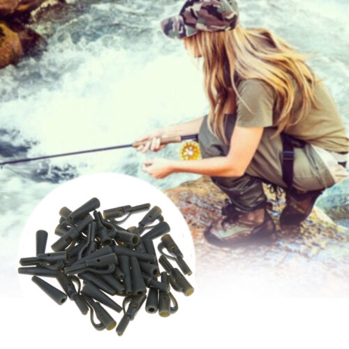 20X Safety Lead Clips Carp With Pins Tail Rubber Tubes Fishing Outdoor-Tackle