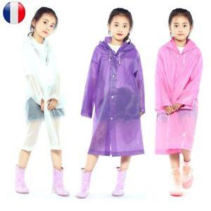 Enfants-Poncho-Capuchon-Veste-Pluie-Reutilisable-impermeable-Exterieur-Portable