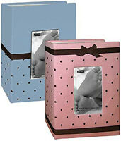 Don's Deal Pioneer 1-pink 1- Blue Bem-100 Baby Fabric 4x6 Albums Boy & Girl