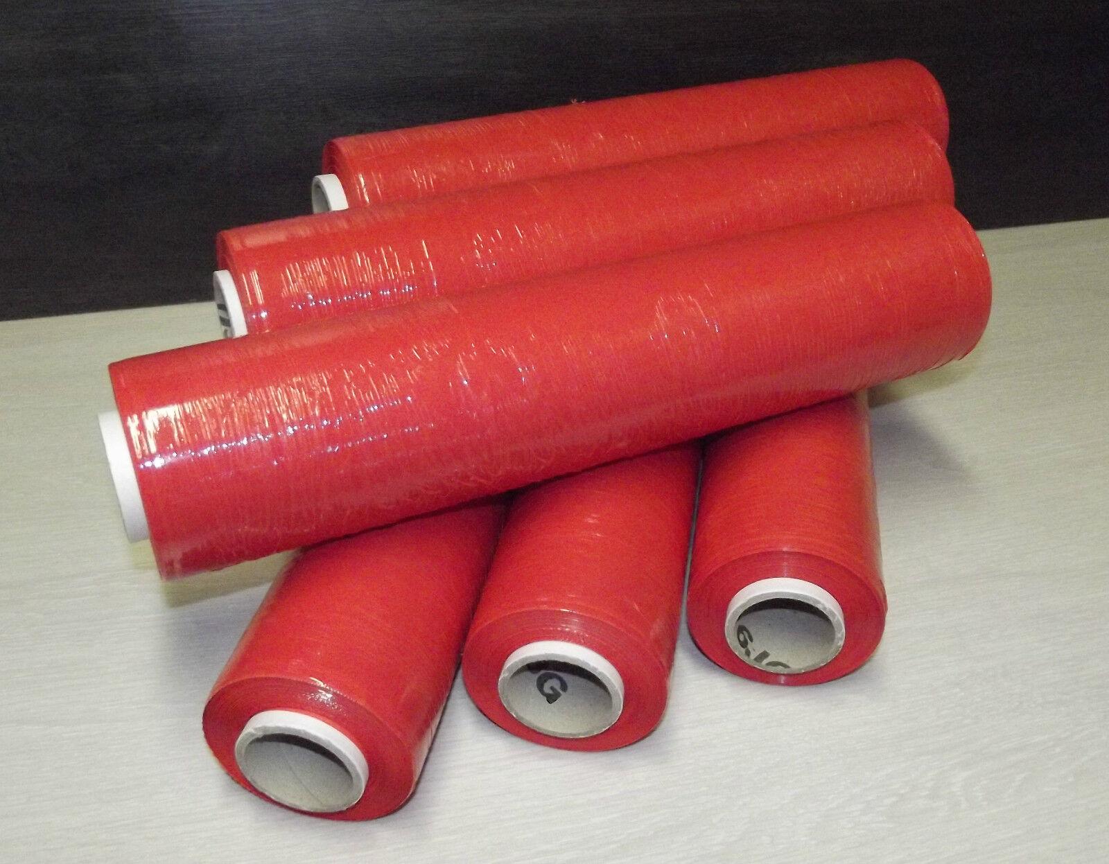 Lot de 6 rouleaux 20 de film étirable 20 rouleaux µ manuel ROUGE 450 x 300 qualité superieur 6ae8d0