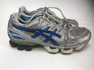 81237f66e951 RARE ASICS GEL KINSEI 2 RUNNING SHOES Silver Women s Size 8 Fast ...