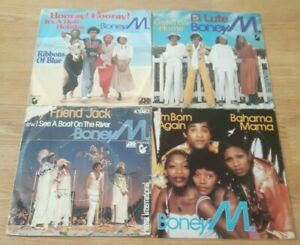 Boney-m-7-034-vinyl-singles-bundle-in-picture-sleeves