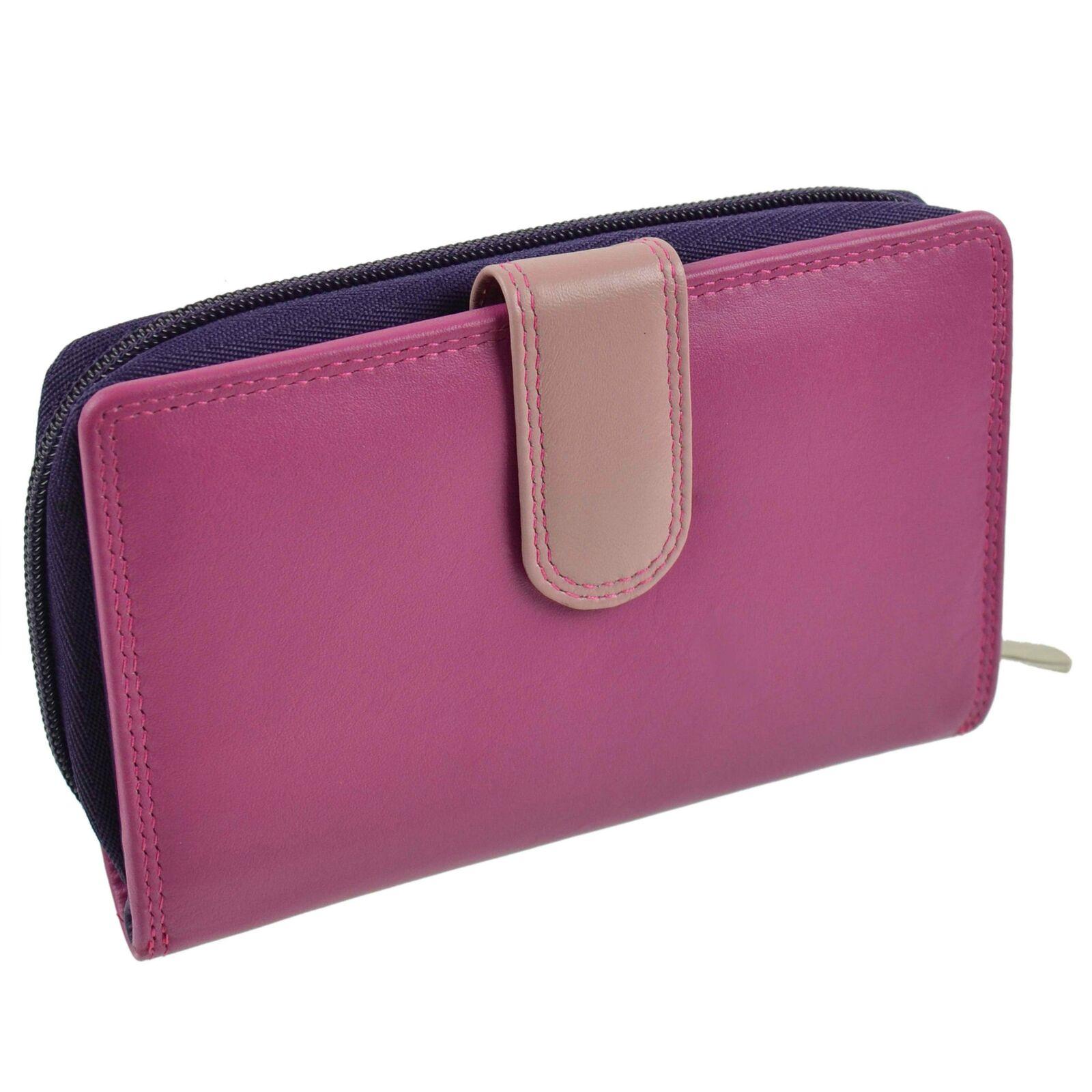 Leather Tabbed Medium Purse/Wallet by Golunski Gift Travel Handy Credit Card