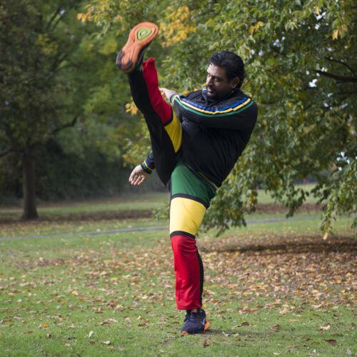 Mann Brasilien Hose Unisex Schwarz Reggae Abada Martial Art Sport Elastische