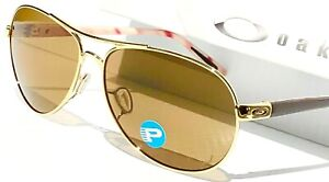 dfb98f052a2 Image is loading NEW-Oakley-FEEDBACK-Aviator-GOLD-Brown-POLARIZED-Bronze-