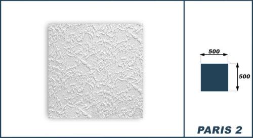10 qm Deckenplatten Dekorplatten Styropor Platten Deckenfliesen 50x50cm Paris2