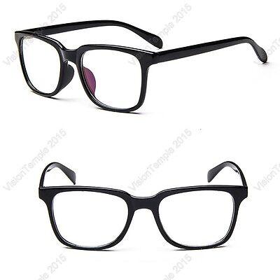 Trendy Eyeglasses Clear Lens Plastic Large Frames Use to Prescription  Glasses | eBay