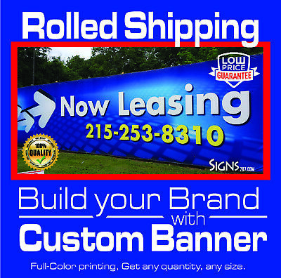 Free Design Included 4/' x 10/' Custom Vinyl Banner 13oz Full Color