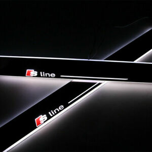 2x-LED-AUDI-S-LINE-Moving-Illuminated-Front-Door-Sill-Trim-Panel-30