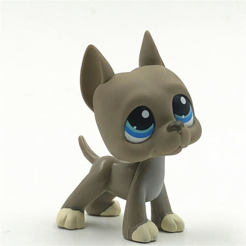 Littlest Pet Shop LPS 184 Toys Gray Great Dane Dog Hasbro Kids Toys Collection