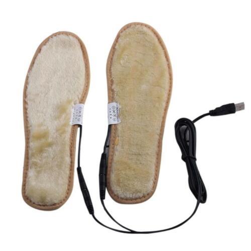 Electric USB Plug Heated Shoes Insoles Plush Film Heater Warm Socks Foot Pad