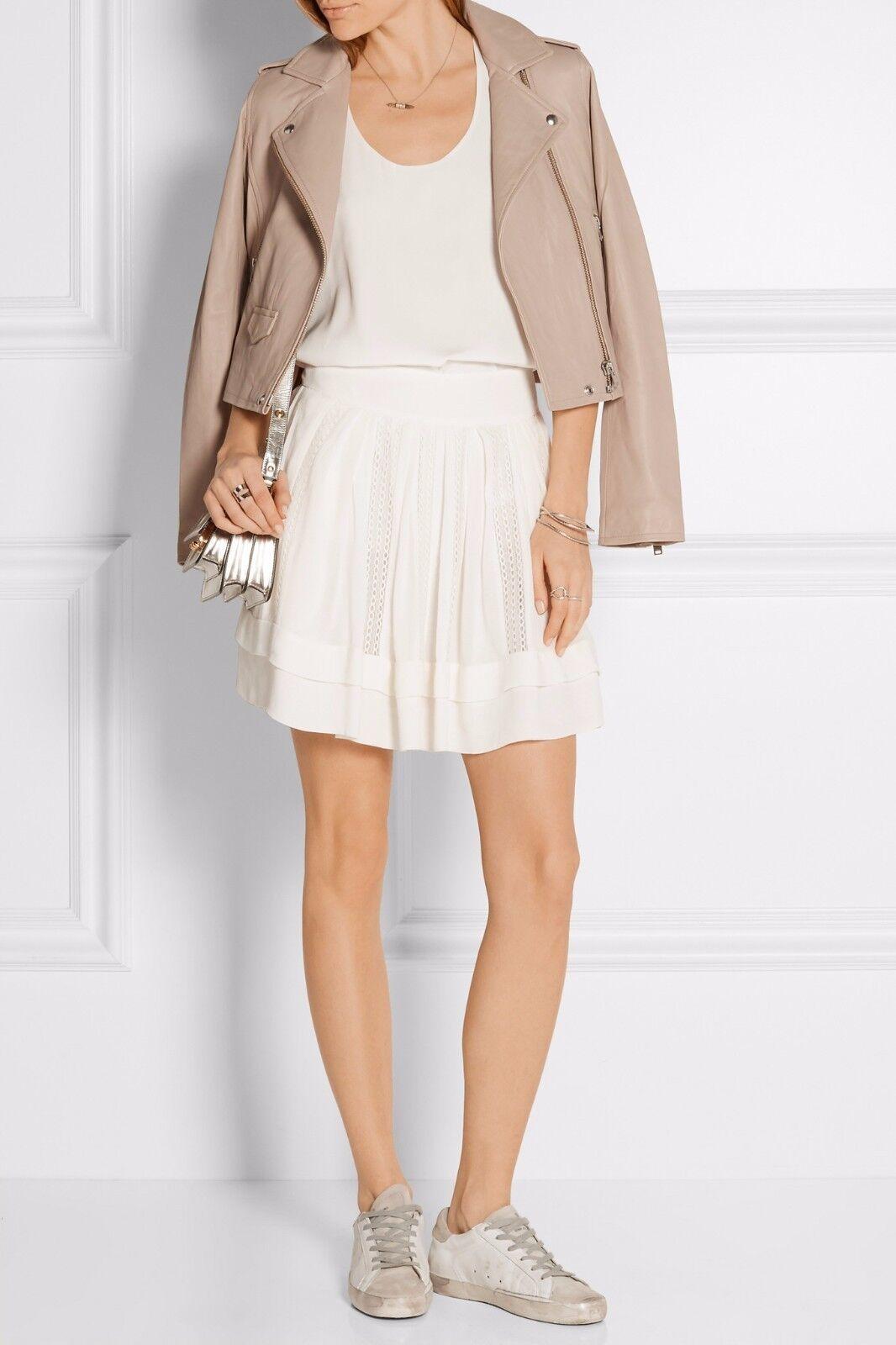 NWT IRO Ginny Crochet-Trimmed Skirt Ecru Size 34,36,38  350