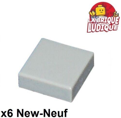 Lego LEGO Bau- & Konstruktionsspielzeug 4x Fliese Platte glatt 1x1 mit Groove grau/light Angebot gray 3070b neu LEGO Bausteine & Bauzubehör