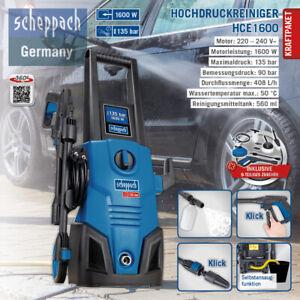 Hochdruckreiniger Scheppach HCE 1600 SE 135bar 9-tlg. Zubehör Flächenreiniger