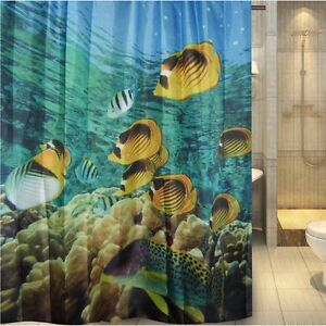 Undersea Colorful Aquarium Shower Curtain New Free Shipping