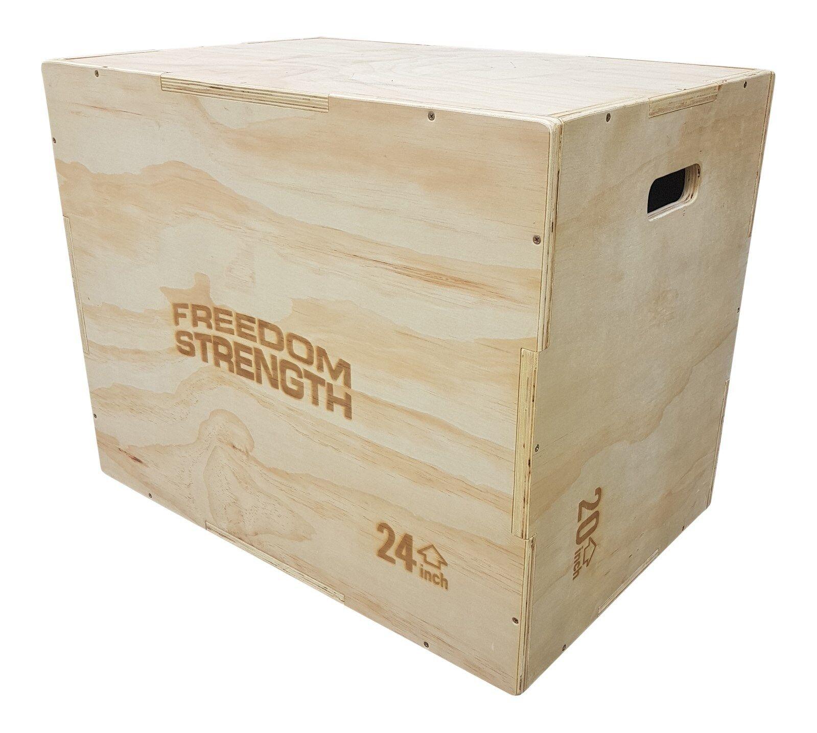 3 in 1 Heavy duty Wooden Plyometric jump Box, crossfit, fitness, explosive
