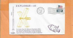 Explorador 46 Lanzado Por Scout Aug 14,1972 Wallops Isla Orbit Espacio Cubierta