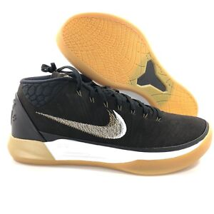 9de2c03a28de Nike Kobe AD Mid Black Metallic Gold Anthracite White 922482-009 ...