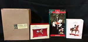 LOT-4-Hallmark-Keepsake-Christmas-Ornaments-Pony-Rocking-Horse-Unicorn-Carousel