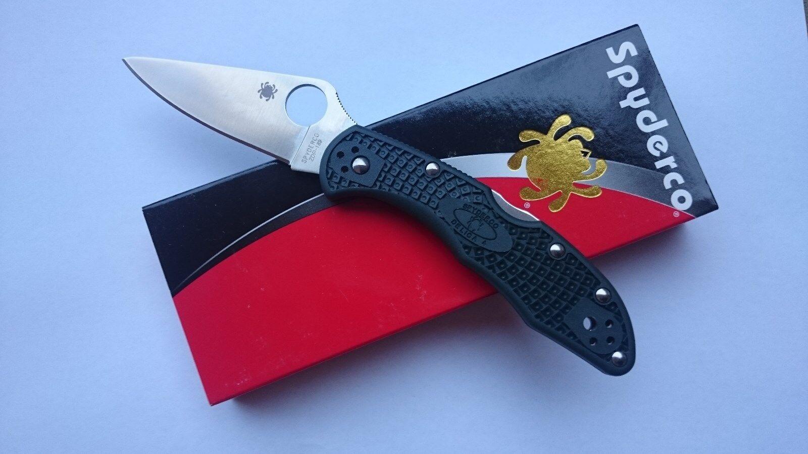SPYDERCO DELICA 4  Lightweight Taschenmesser Klappmesser ZDP-189 Stahl Japan