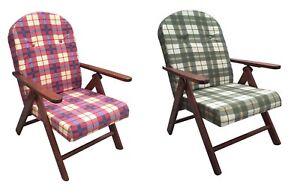 Sedia A Sdraio In Legno : Poltrona sedia sdraio amalfi in legno reclinabile 4 posizioni ebay