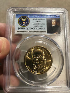 2008 P JOHN QUINCY ADAMS  PRESIDENTIAL DOLLAR  NGC MS66 FIRST DAY ISSUE US MINT