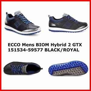 998a73820326 New Ecco Mens Golf Shoes BIOM Hybrid 2 GTX Black Spikeless EU39 41 ...