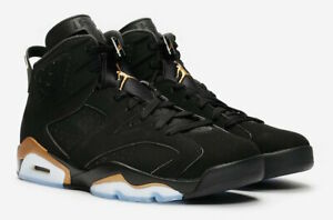 2020-Nike-Air-Jordan-6-Retro-DMP-Black-Metallic-Gold-CT4954-007-GS-amp-Men-039-s-Sizes