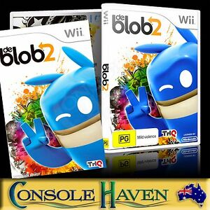 Wii Game De Blob 2 The Blob Ii Pg 3d Platformer Pal