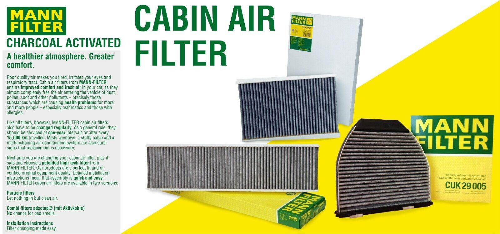 MANN-FILTER Pollen Filter for BMW X6 CUK 2941-2 Discount Car Parts