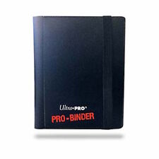 Black Ultra Pro Binder 2-Pocket Trading Card Folder Holds 80 Cards- Pokemon/MTG