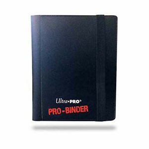 Black-Ultra-Pro-Binder-2-Pocket-Trading-Card-Folder-Holds-80-Cards-Pokemon-MTG