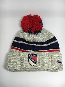 78adfd196bb Image is loading New-York-Rangers-Winter-Classic-Knit-Pom-Beanie-