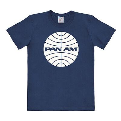 Retro: USA: Airlines - Pan American - Pan Am - Logo - T-Shirt, blau - LOGOSHIRT