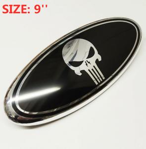 9-039-039-Black-Punisher-Emblem-Oval-Front-Grill-Badge-For-FORD-TRANSIT-VAN-MK7-FOUCUS