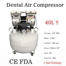 Dental Medical Air Compressor Silent Quiet Noiseless Oilless Compressor 40l Fast